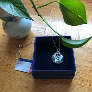 NWT Swarovski Crystal Circle Pendant Necklace